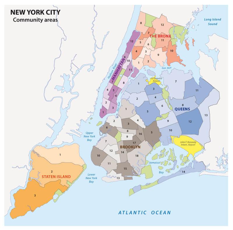 Viaggio a New York Mappa