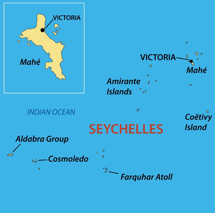Viaggio Seychelles Cartina