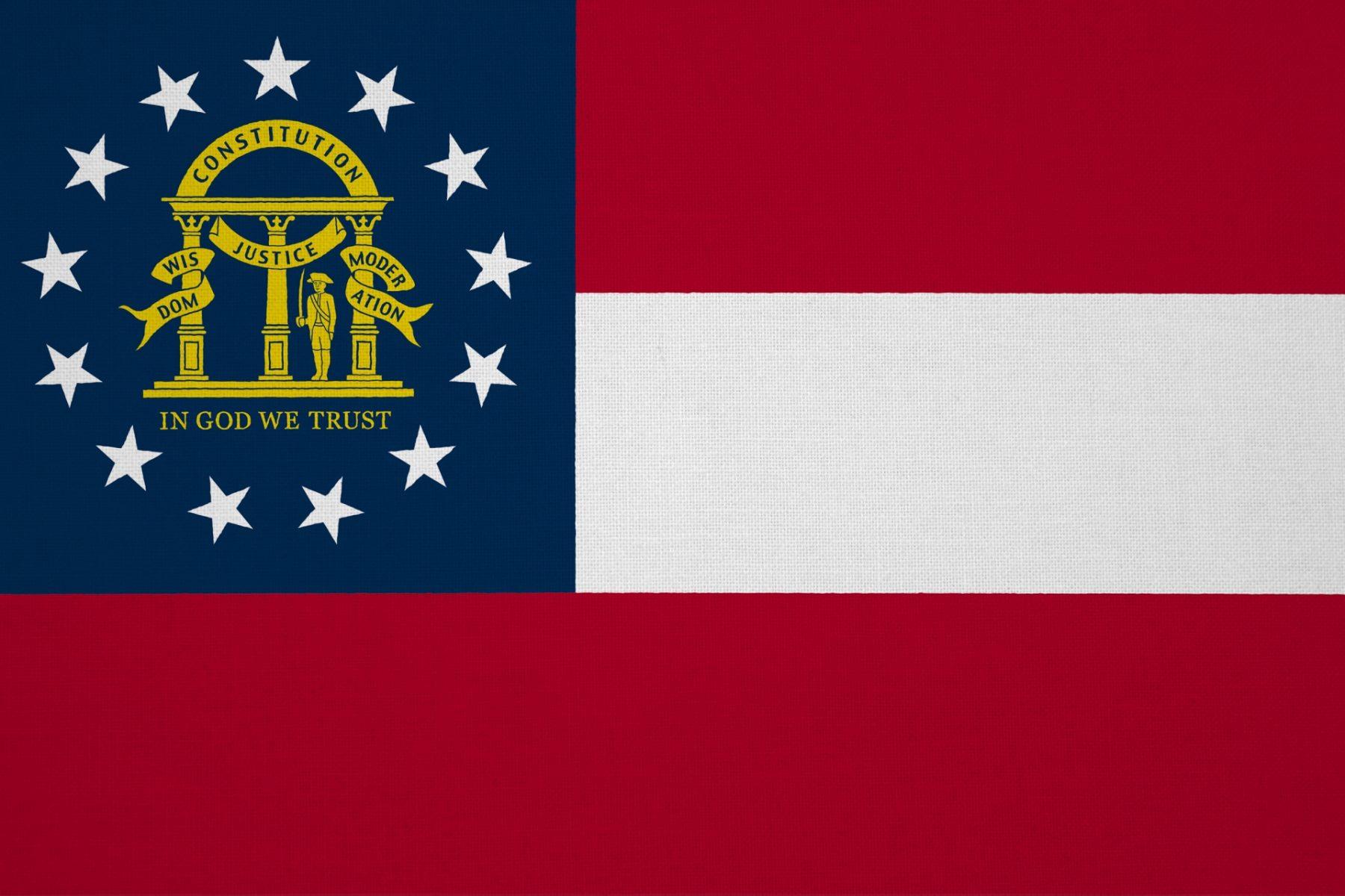 Viaggio nel South USA Georgia Bandiera