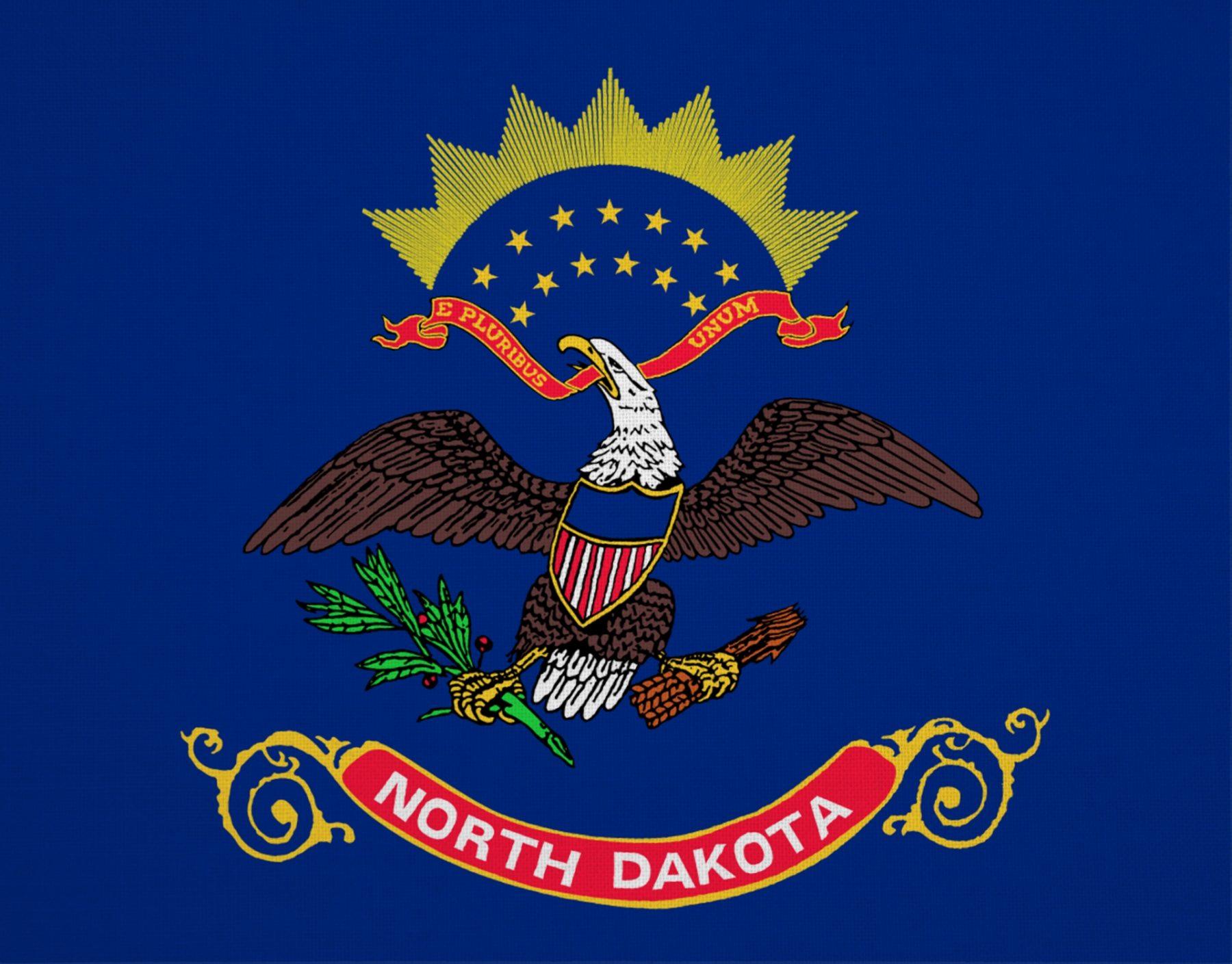 Viaggio nella Real America North Dakota Bandiera