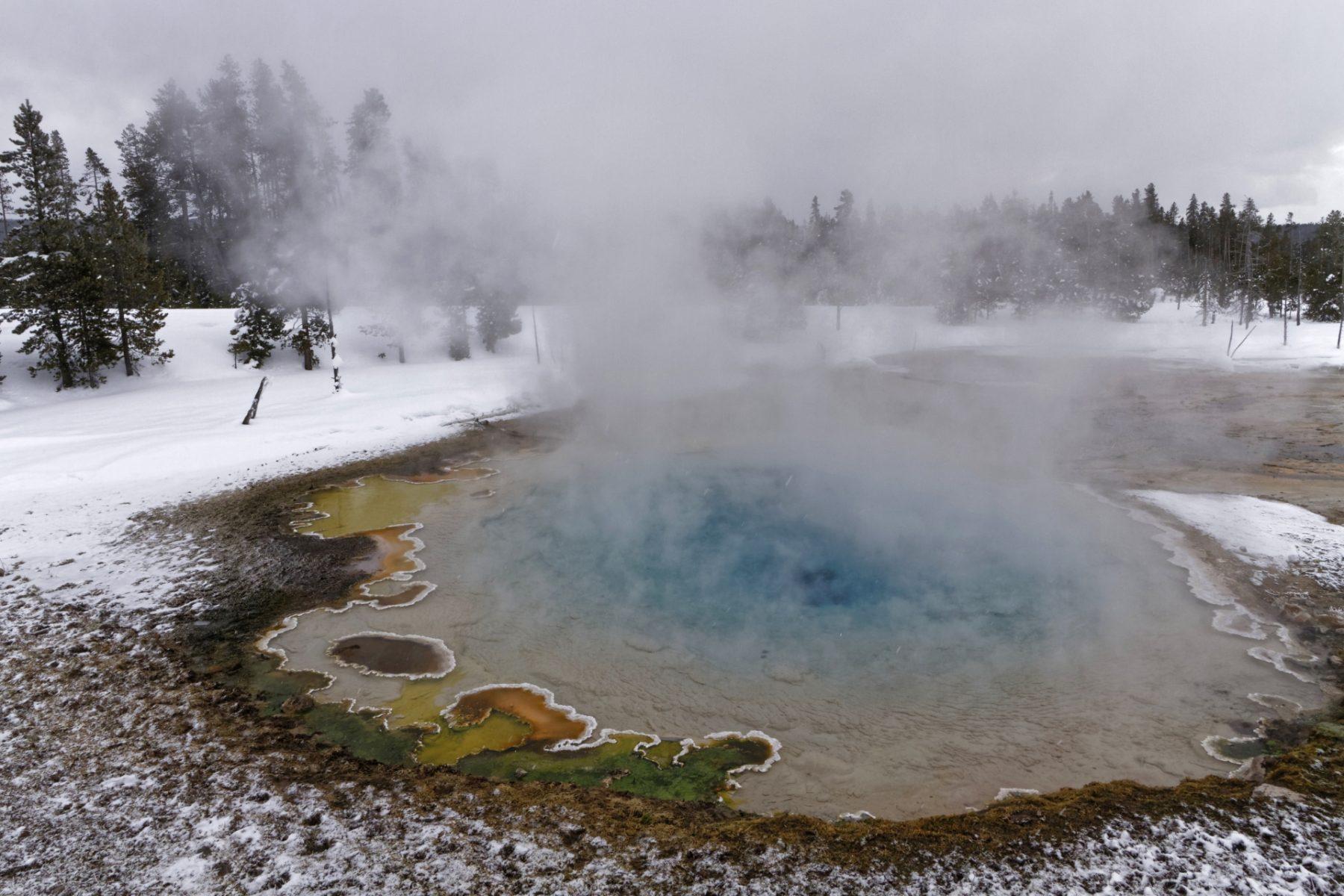Viaggio nelle Rocky Mountains invernali Hot Springs