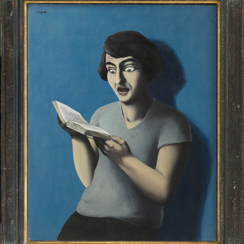 "Louvre di Abu Dhabi René Magritte, ""La lettrice sottomessa"", 1928"
