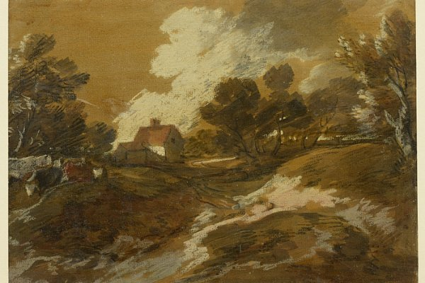 Thomas Gainsborough, Paesaggio boscoso con mucche e. Olio su tela, 21.5 x 29.4 cm. © The Clark Art Institute.