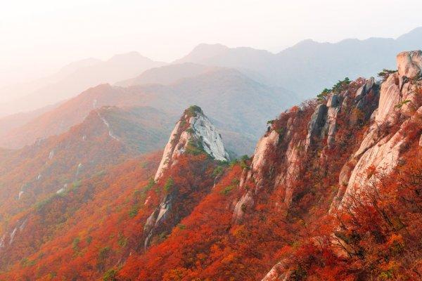 I foliage più spettacolari del mondo Bukhansan National Park Corea del Sud