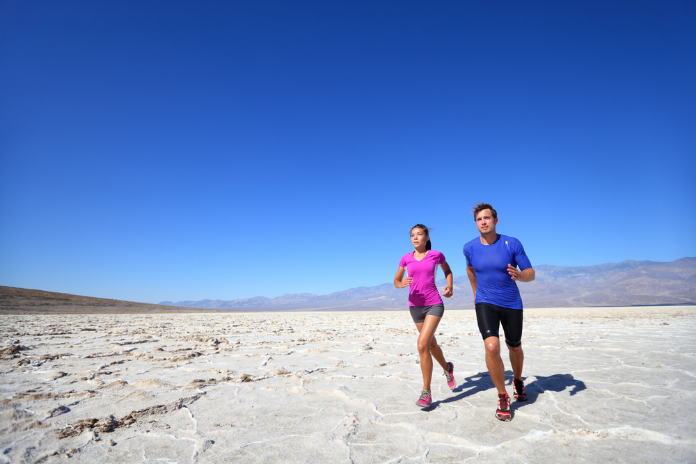 Viaggio running West USA: Death Valley
