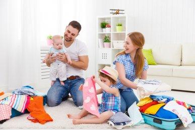 Come fare la valigia se si viaggia con bambini