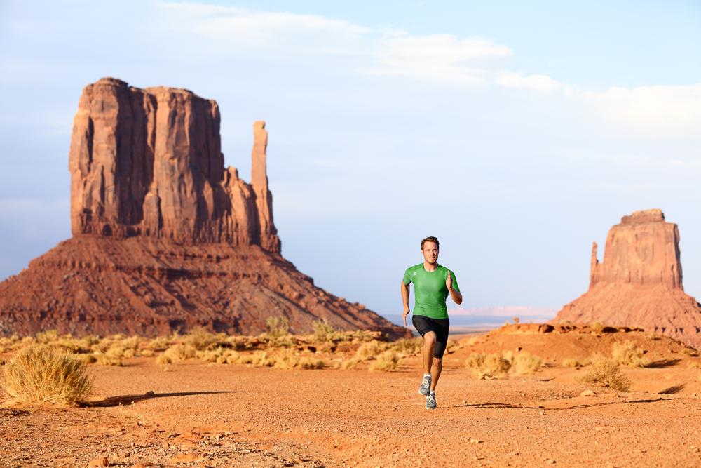 viaggio running West USA Monument Valley