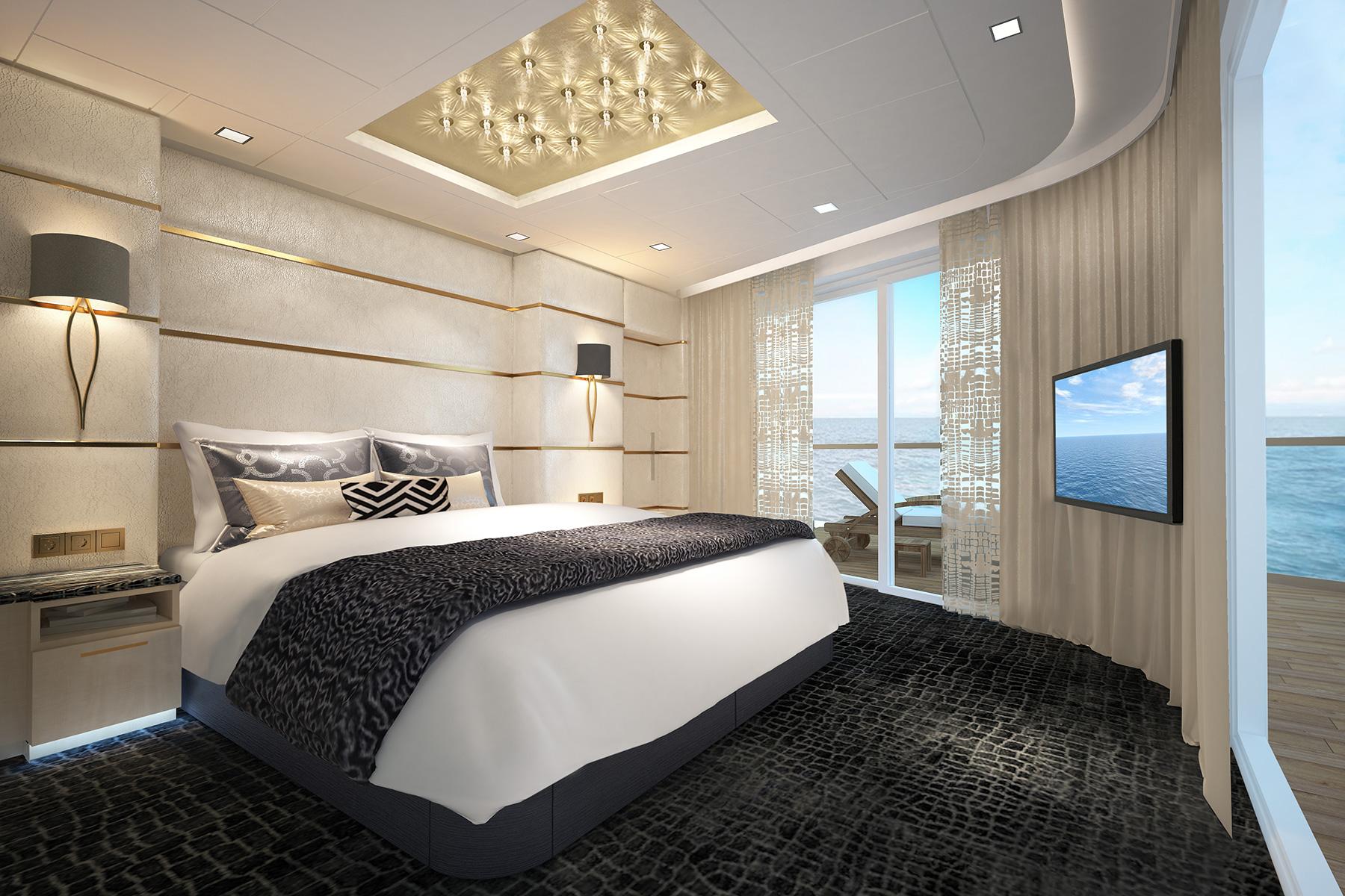 Crociere Norwegian Haven Deluxe Owner Suite H2 Bedroom_PS1_hi
