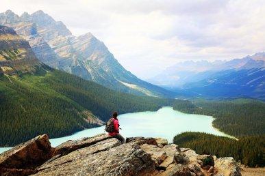 Viaggio hiking in Canada