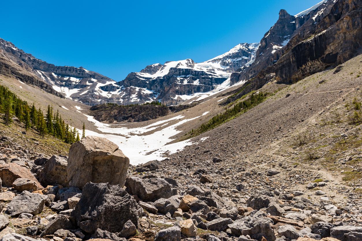 Viaggio hiking in Canada Stanley Glacier