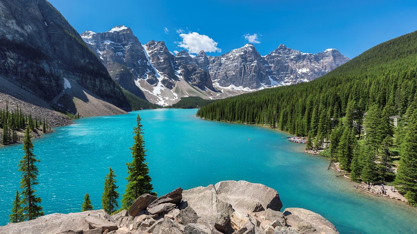 Viaggio hiking in Canada Lake Moraine