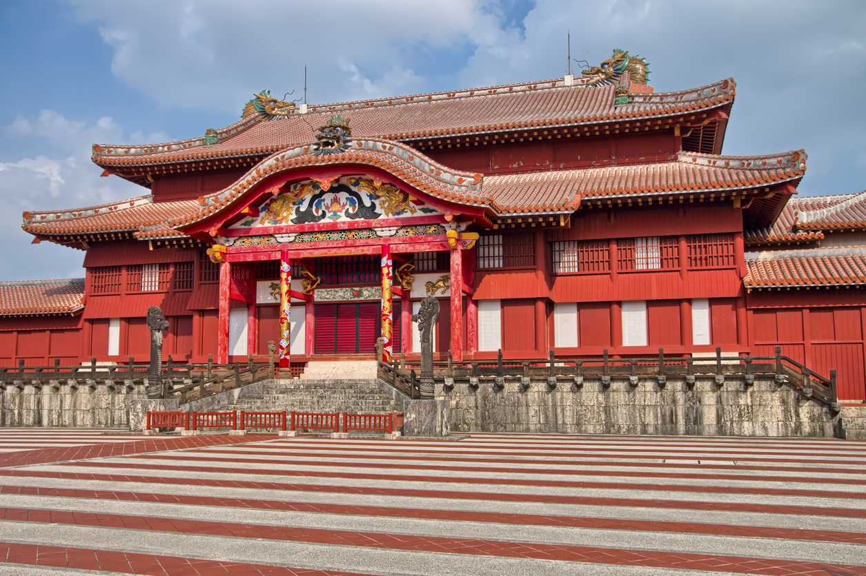 Shuri Castle in Naha, Okinawa, Japan