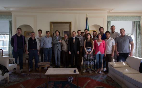 incontro a casa del Console Generale Italiano a San Francisco