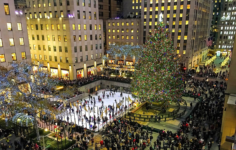 Winter holiday at Rockefeller Center
